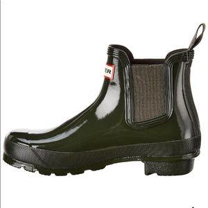Hunter Original Chelsea Gloss Rain Boots. New 11